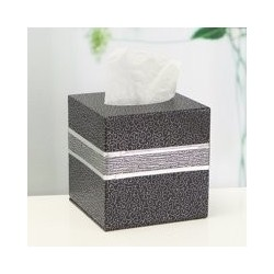 Home Living Car Room Squared Pu Leather Tissue Box Cover Napkin Paper Holder Towel Case