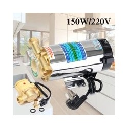 150W 220V Household Automatic Gas Water Heater Water Pressure Booster Pump Shower Washing Machine