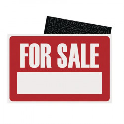 8X12 SIGN KIT FOR SALE WHT / RED 1041128 415-9398